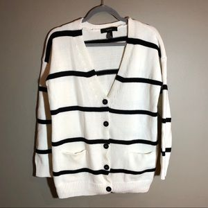 Forever 21 Striped Sweater Cardigan